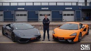 DRAG RACE: Lamborghini Huracan vs McLaren 570S