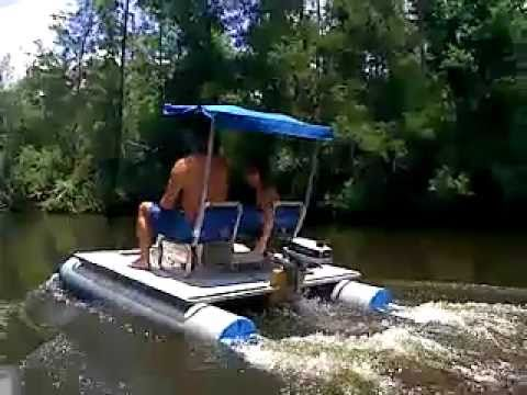Mini Pontoon Boat On Perdido River Youtube