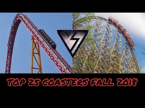 Top 25 Coasters I've Ridden Fall 2018