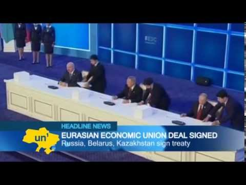 Back to the USSR: Putin signs Eurasian Union deal with Kazakhstan and Belarus but without Ukraine