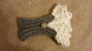 How to #Crochet Beautiful Victorian Style Wrist Arm Cuff TUTORIAL #181