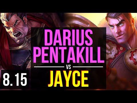 DARIUS Vs JAYCE (TOP) ~ Pentakill, 600+ Games, Legendary, KDA 19/3/2 ~ NA Diamond ~ Patch 8.15