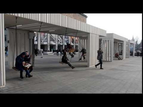Moscow. Public Zone. Swings.