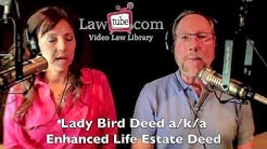 Using a lady bird deed to avoid probate on real estate