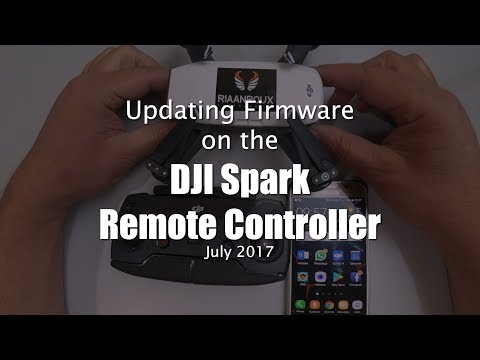 Updating Firmware on the DJI Spark Remote Controller - July 2017