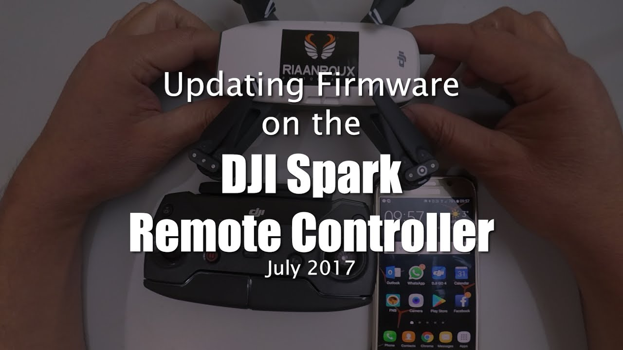 DJI Spark Firmware Update On Drone, RC And Battery | DroneZon
