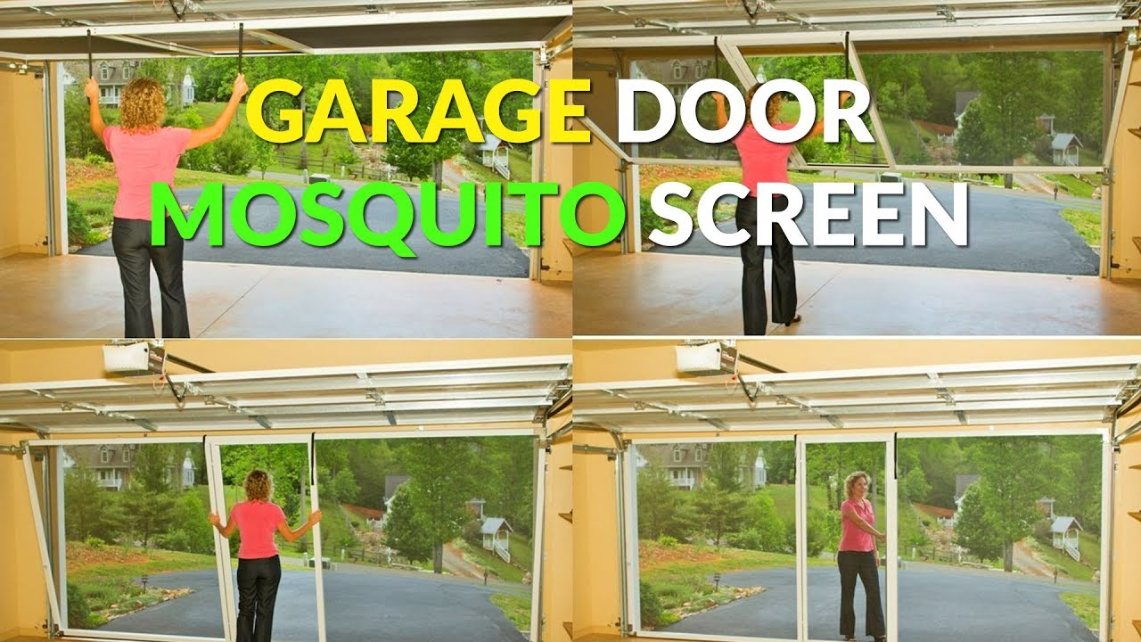Garage Door Screen That Rolls Up Rolling Garage Door Mosquito Screen Attaches To Garage Track