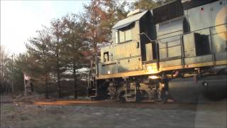 CHASING CSX!! ENGINEER PLAYS SHAVE AND A HAIRCUT, TWO BITS ON THE HORN!!