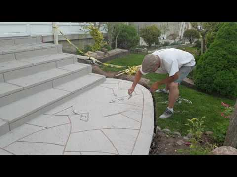 Resurfacing concrete steps design, jewel stone decor design, watch and learn DIY by daja constructio