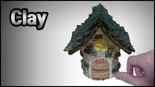 [지점토] 참치캔으로 벽돌 기와집 만들기