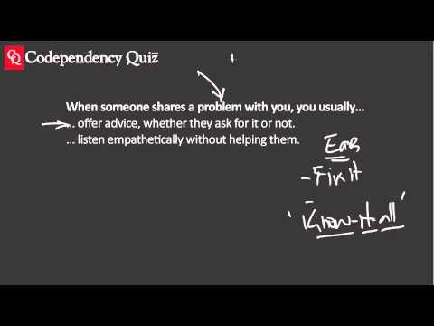 Codependency Quiz—Offering Advice