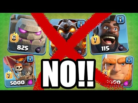 YOU'RE NOT ALLOWED TO USE THESE TROOPS!! - Clash Of Clans - BANNED TROOP CHALLENGE!