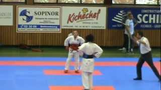 Karate WKF - Lion's Cup (Luxembourg) - O. Mulolo vs FRA