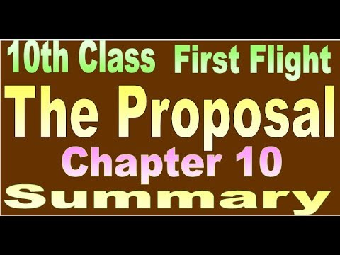 10th class first flight chapter 10 The Proposal  (in Hindi)  Summary in Hindi