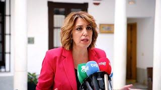 """Susana Díaz ofrece a la Junta la """"voluntad de diálogo"""" del PSOE"""