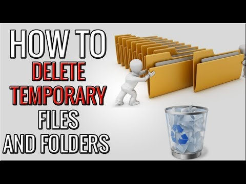 how to delete temporary files from laptop