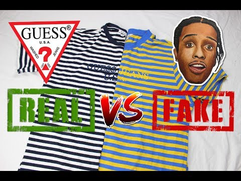 How To Spot Fake Guess A$AP Rocky T-shirt | REAL VS FAKE