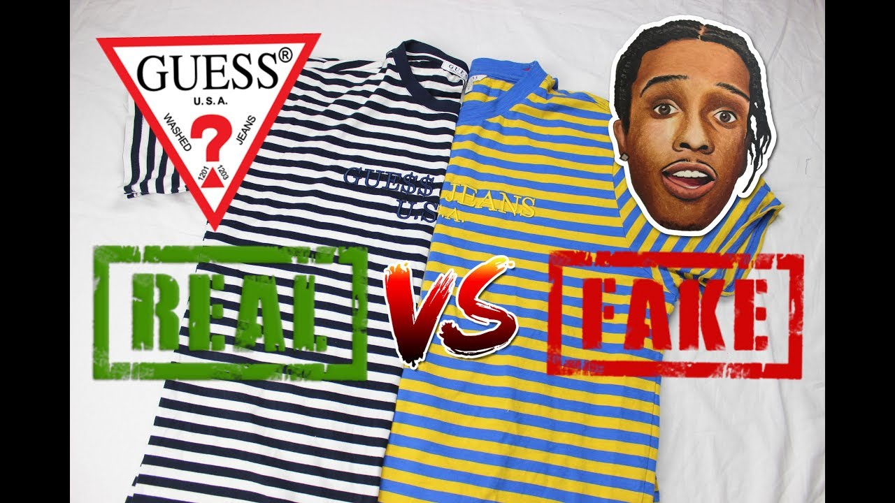a28bf962a How To Spot Fake Guess A AP Rocky T-shirt