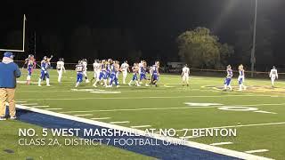 Football highlights: West Marshall at Benton