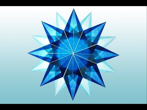 Diy 16 Zackiger Blauer Stern Aus Transparentpapier Basteln