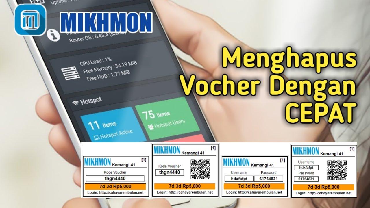 Cara Menghapus Vocher di MIKHMON dengan CEPAT - Mikhmon Ponsel
