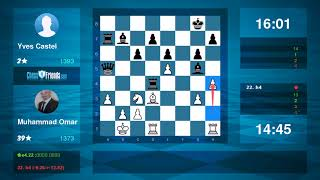 Gambar cover Chess Game Analysis: Muhammad Omar - Yves Castel : 1/2-1/2 (By ChessFriends.com)