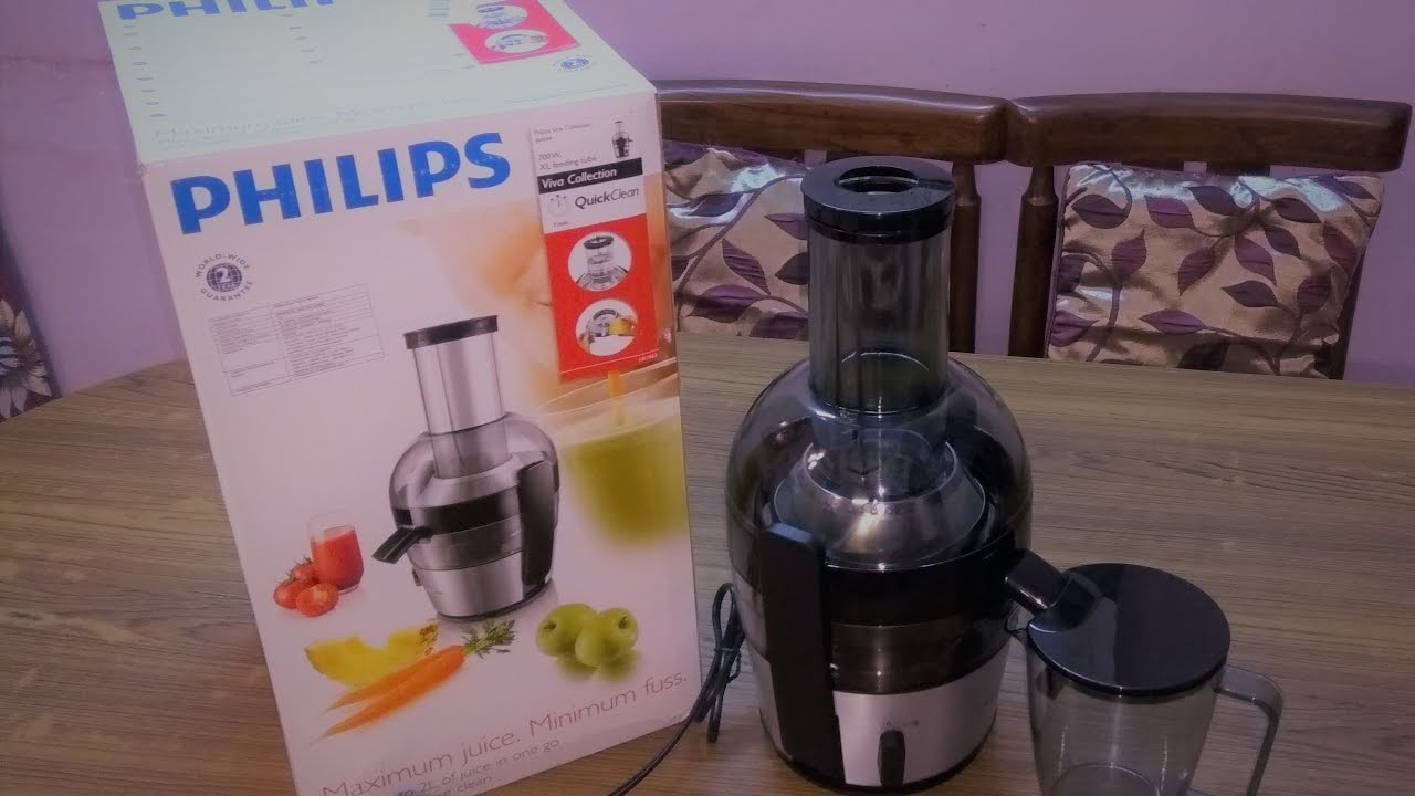 Philips Viva Collection HR186320 2 Litre Juicer (BlackSilver) Unboxing and Review