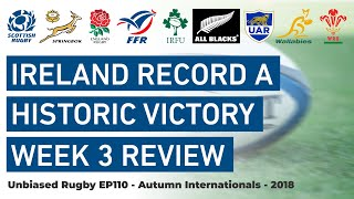 Ireland record a historic victory. Autumn Internationals week 3 Review