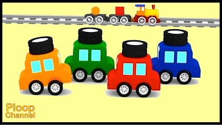 Cartoon Cars - LEARN SHAPES Compilation #5 Construction Cartoons for Children - Kids Cars Cartoons!
