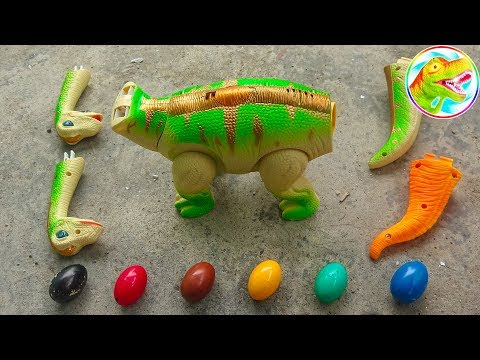 Dinosaur Walking and Laying Eggs Toys Learn Colors & Numbers for Children - G236V ToyTV