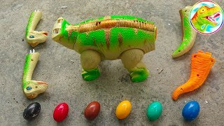 Dinosaur Walking and Laying Eggs Toys Learn Colors & Numbers for Children #3 - G236V