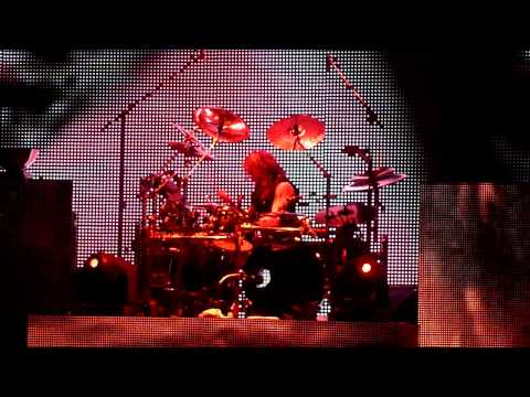 Ginger Fish Drum Solo during Rob Zombie set at Download Festival 2011
