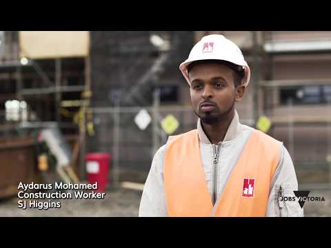 Jobs Victoria Working Stories: Building a career in the construction industry
