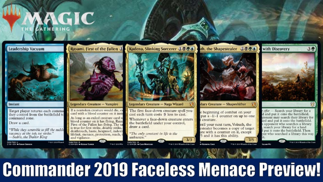MTG Commander 2019 Previews: Faceless Menace