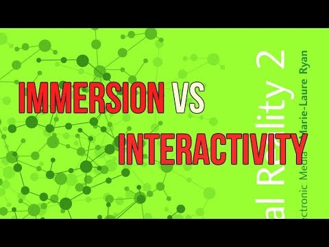 Immersion VS Interactivity: Narrative as Virtual Reality by Marie-Laure Ryan