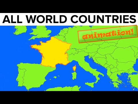 All World Countries · Map + Flag + Capital City + Pronunciat