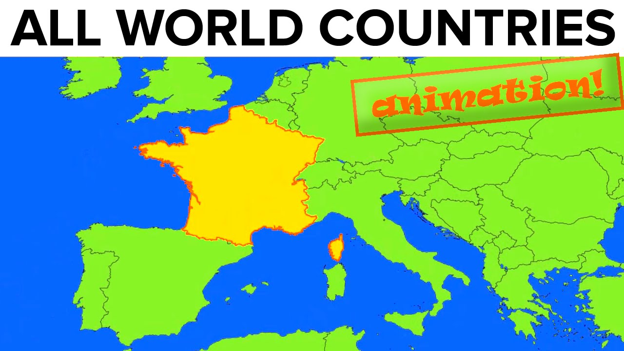 All World Countries · Map + Flag + Capital City + Pronunciation ...