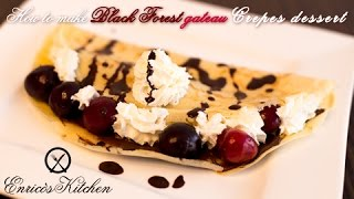 How to make Black Forest gateau Crepes recipe