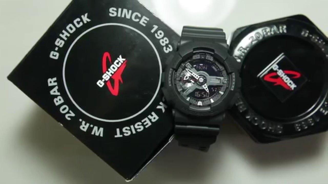 Ga 1a G Full Casio Shock Black 110mb 8vON0mnw