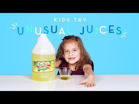 Kids Try Unusual Juices | Kids Try | HiHo Kids