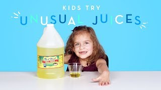 Kids Try Unusual Juices | Kids Try | HiHo Kids