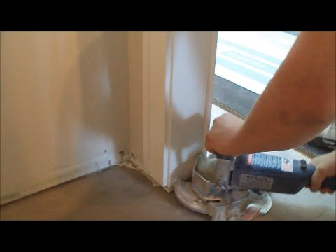 How to Cut Door Trims for Hardwood or Laminate Floor Installation Fast and Easy Mryoucandoityourself