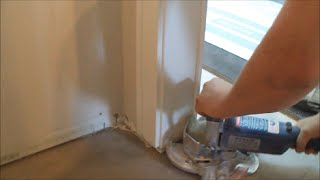 How To Cut Door Trims For Hardwood Or Laminate Floor Installation Fast And Easy