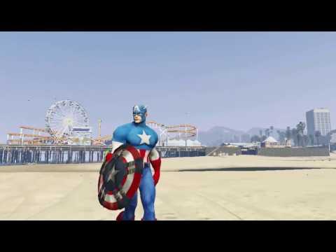 Captain america cartoon for kids - Superheroes at the beach