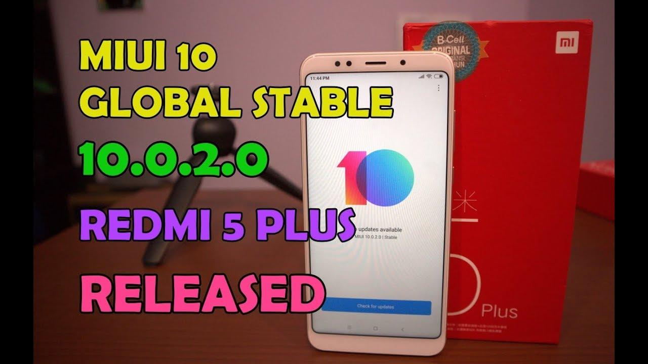 Update MIUI 10 Global Stable 10 0 2 0 Redmi 5 Plus Dirilis, Buruan  Diupdate!!