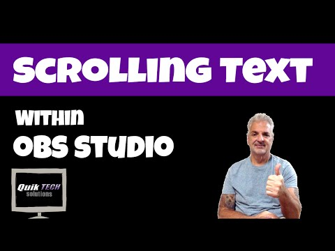How To Scroll Text In OBS Studio