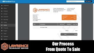 Our Process From Quote To Sale using Invoice Ninja