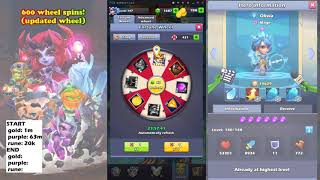 Taptap Heroes - 600 wheel spins (plus some tavern)