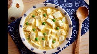 只要三種食材簡易家常菜~鹹蛋燴豆腐~簡易料理/食譜/作法