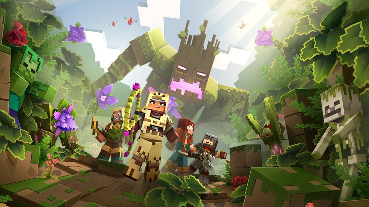 Minecraft Dungeons Jungle Abomination Boss Battle (Jungle